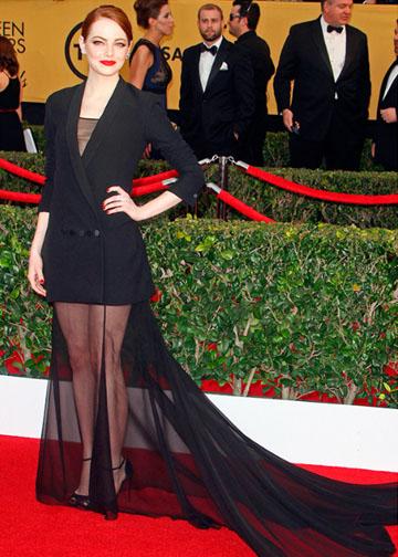 emmastone-sag award-Dior Couture